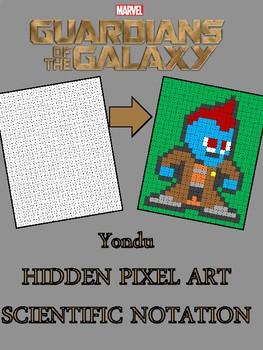 Scientific Notation - Hidden Pixel Art - Marvel Avengers - Yondu