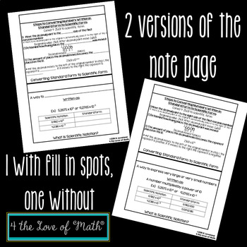 Scientific Notation - Interactive Flip Book