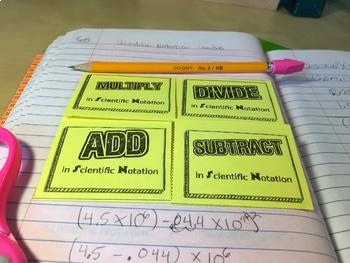 Scientific Notation Interactive Notebook