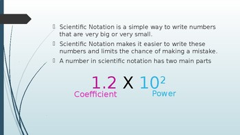 Scientific Notation Introduction Lesson