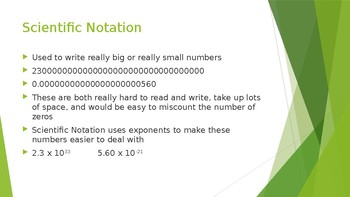 Scientific Notation Lesson Presentation