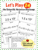 Scientific Notation - Let's Play 24 Challenge - Task Cards