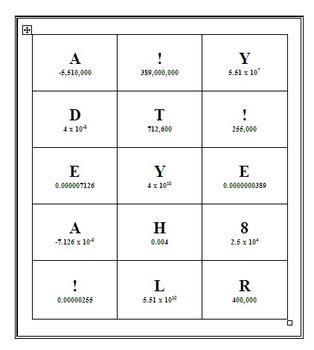 Scientific Notation Match