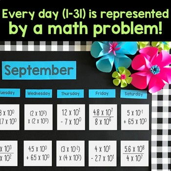 Scientific Notation Math Calendar