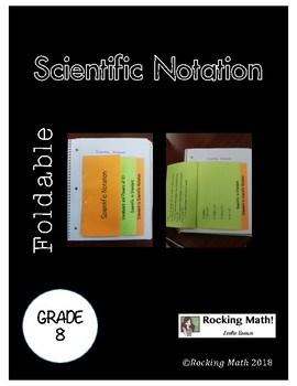 Scientific Notation Math Foldable