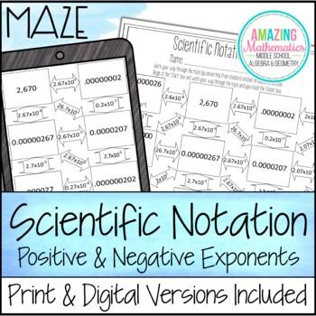 Scientific Notation Maze