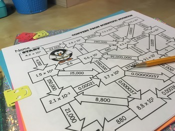 8th Grade Scientific Notation Activity Maze