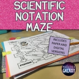 Scientific Notation Activity Maze (Distance Learning)