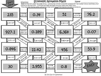 Scientific Notation Activity | algebra 1 | Pinterest | Scientific ...