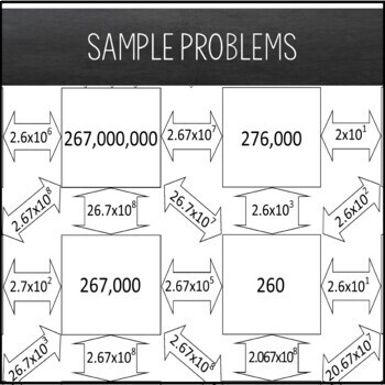 Scientific Notation Maze ~ Positive Exponents