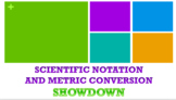Scientific Notation, Metric Conversion REVIEW GAME for Phy
