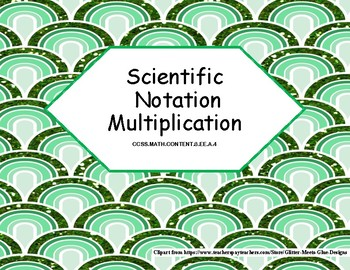 Scientific Notation Multiplication Task Cards