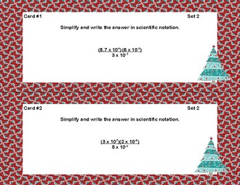 Scientific Notation Multiplication and Division Task Cards and Quiz