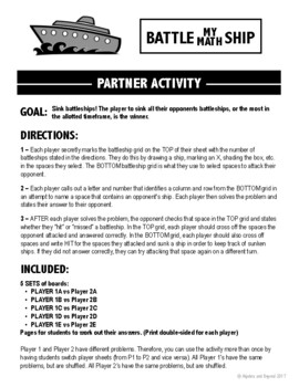 Scientific Notation (Multiply and Divide) Activity- Battle My Math Ship Game