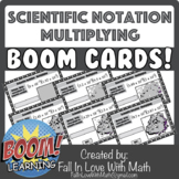 Scientific Notation - Multiplying Boom Cards!