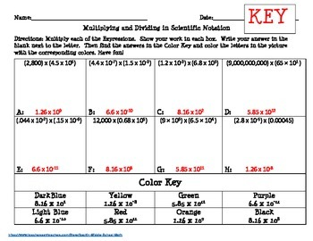 Scientific Notation: Multiplying Expressions- CCSS 8.EE.A.4