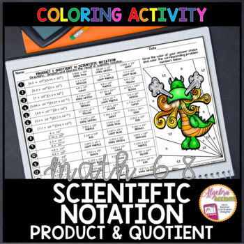 Scientific Notation: Multiplying and Dividing Coloring Activity