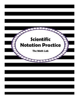 Scientific Notation Notes - Chart Format