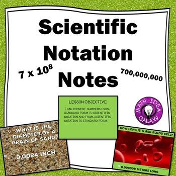 Scientific Notation Presentation (Lesson)