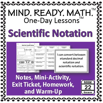 Scientific Notation Notes and Activity
