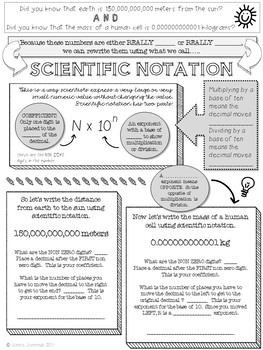 Scientific Notation Notes and Practice