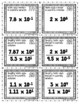 Scientific Notation Operations - 48 Task Cards