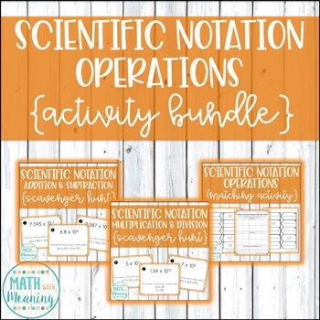 Scientific Notation Operations Activity Mini-Bundle