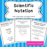 Scientific Notation Operations Cheat Sheets/Reference Sheets