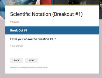 Scientific Notation Operations –  Breakout Bundle with Google Forms!