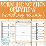 Scientific Notation Operations Matching Activity - CCSS 8.EE.A.4