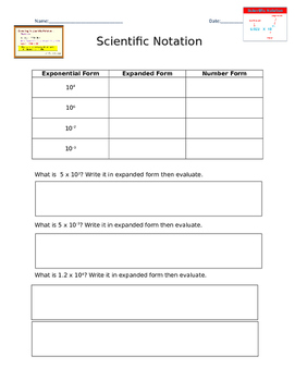 Scientific Notation & Operations Notes