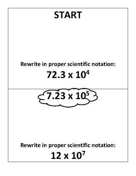 Scientific Notation Operations (Scavenger Hunt)