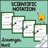 Scientific Notation Operations Activity - Scavenger Hunt