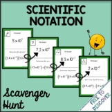 Scientific Notation Operations Activity - Scavenger Hunt