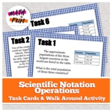 Scientific Notation Operations: Task Cards and Escape Room