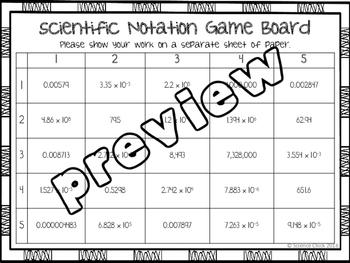 Scientific Notation Partner Activity