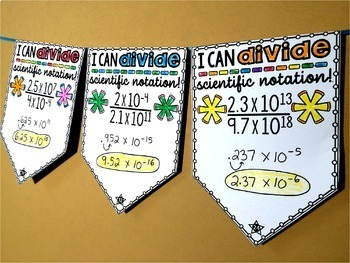 Scientific Notation Math Pennant Activity Bundle