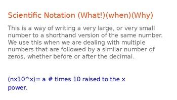 Scientific Notation Power Point