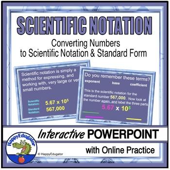 Scientific Notation Powerpoint By Happyedugator Tpt