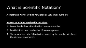 Scientific Notation - PowerPoint Lesson (4.3)