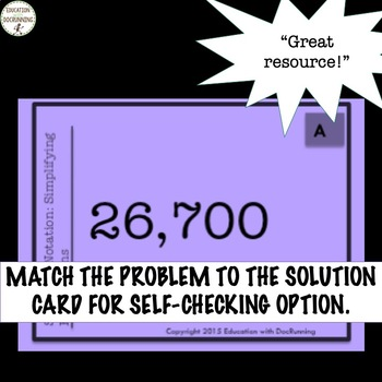 Scientific Notation Task Card Activity