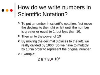 Scientific Notation Presentation