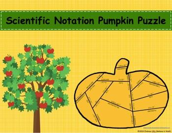 Scientific Notation Pumpkin Puzzle