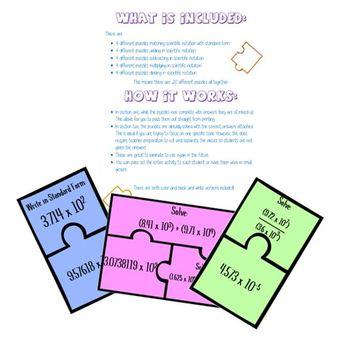 Scientific Notation Puzzle Activity