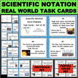 Scientific Notation Real World Math Word Problems Task Fla