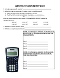 Scientific Notation Review (notes)