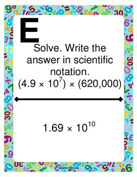 Scientific Notation Scavenger Hunt