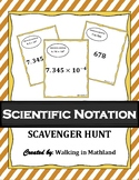 Scientific Notation Scavenger Hunt (Answer Key Included!)