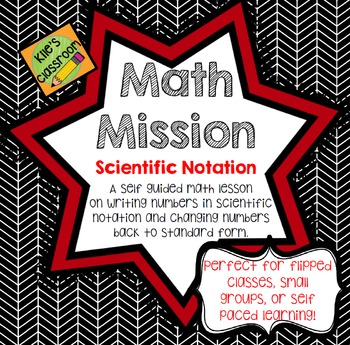 Scientific Notation - Self Guided Interactive Math Activity Math Mission