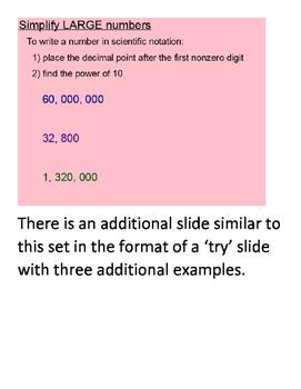 Scientific Notation SmartBoard Lesson